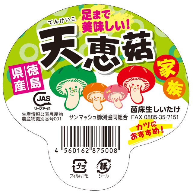 天恵菇家族キノコ型シール アップ (2)