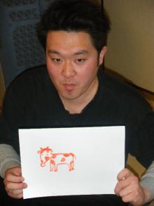 パッケージ松浦 のブログ-明石画伯 丑