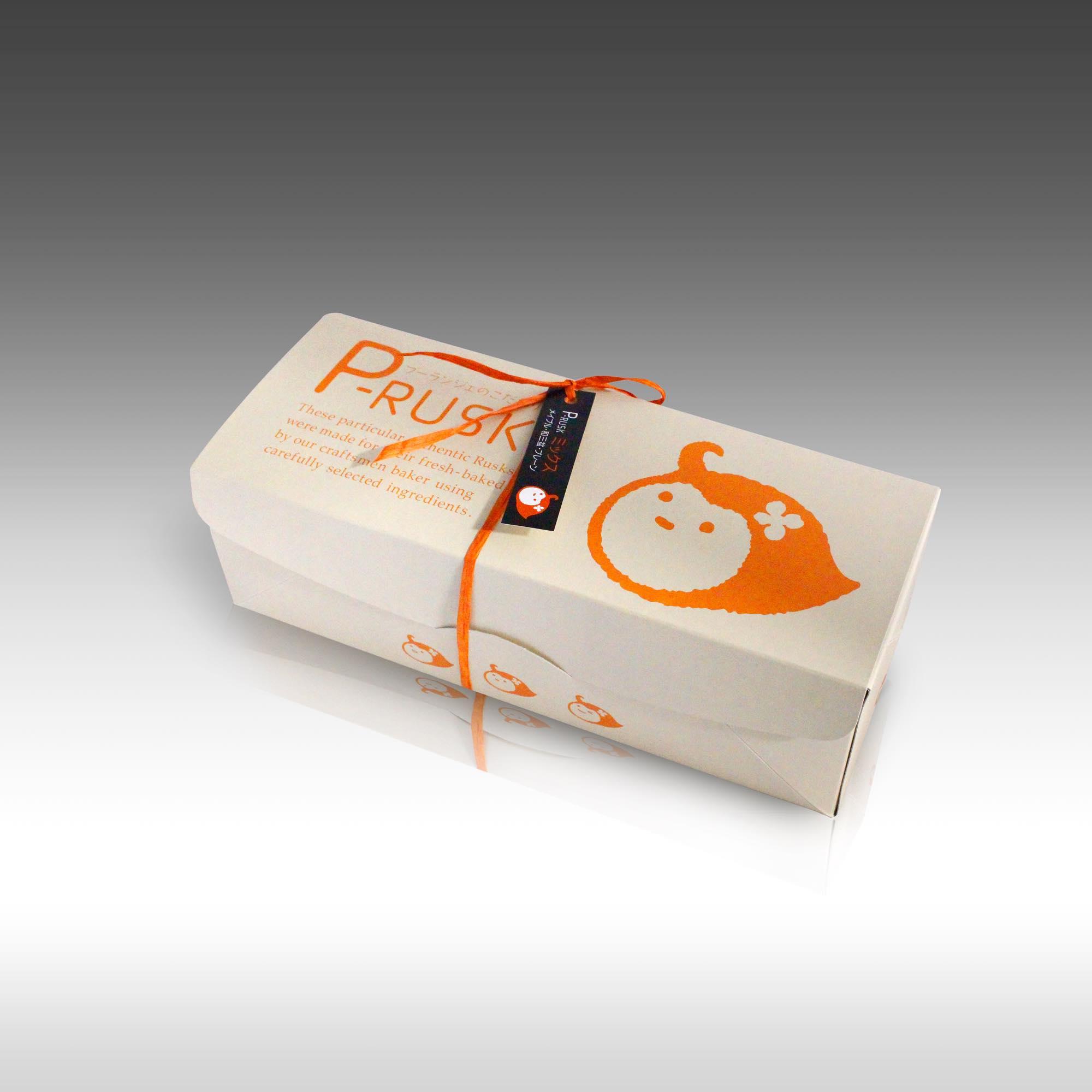 【パパベルさん「P-RUSK」開発秘話!ピーちゃんキャラクターの可愛いパッケージ】
