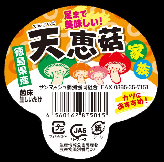 天恵菇家族キノコ型シール アップ (1)