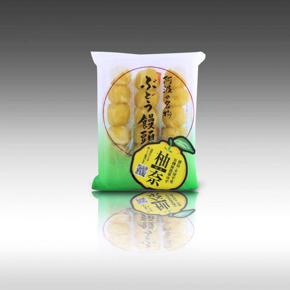 【ぶどう饅頭で有名な「日乃出本店」さんの限定発売してました!「ぶどう饅頭 柚奈(ゆな)」!】