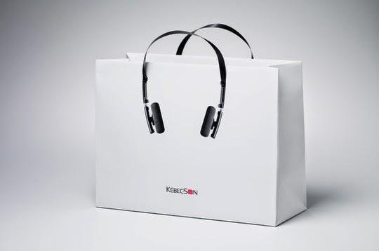 ☆紙袋 パッケージ インパクト オーディオショップ